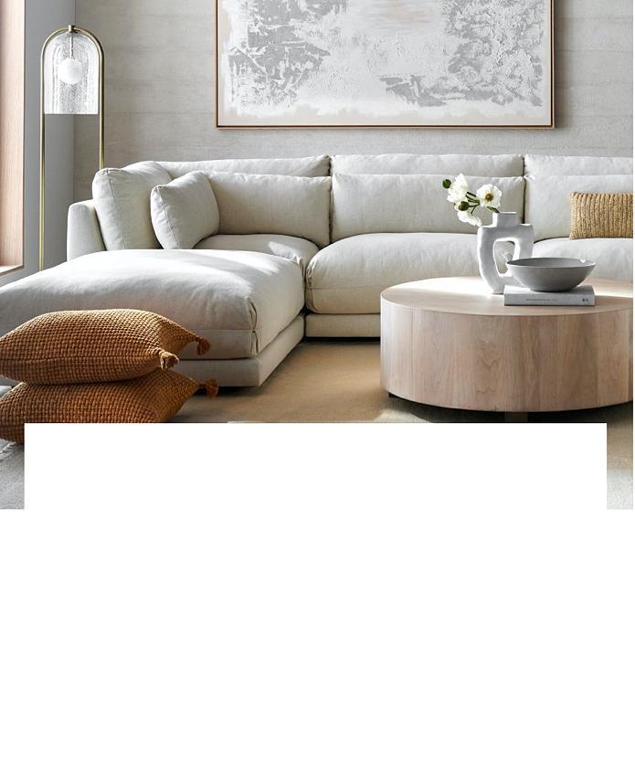 Plush Deep Seated Sectional Sofa, Crate Barrel Sofa